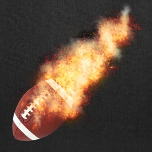 Flaming Football - Tote Bag