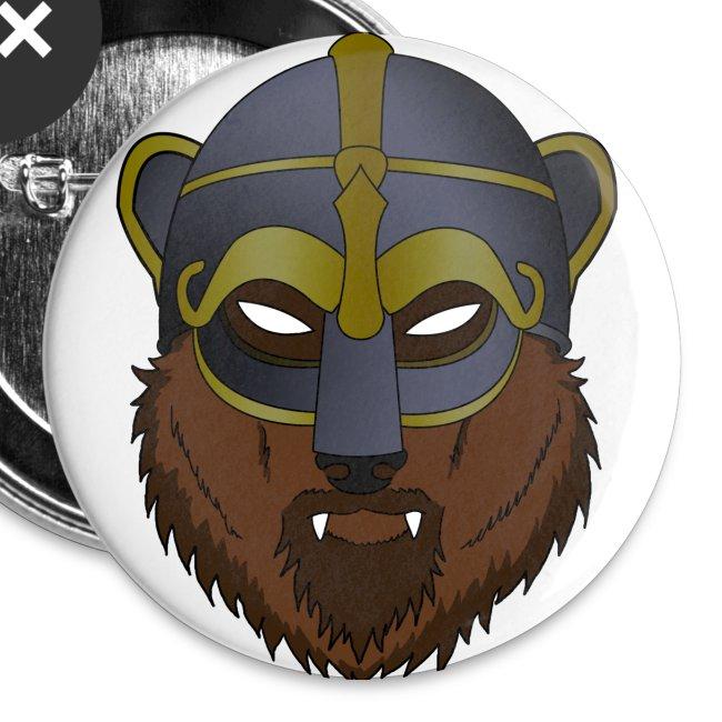 Viking Bear - Small Button