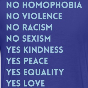 No Yes - Men's Premium T-Shirt