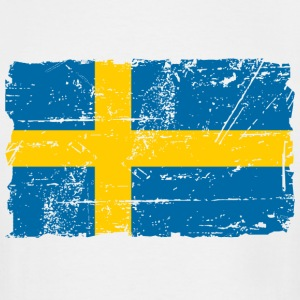 Sweden Flag - Vintage Look T-Shirts - Men's Tall T-Shirt