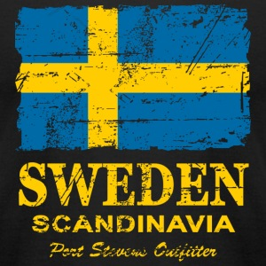 Sweden Flag - Vintage Look T-Shirts - Men's T-Shirt by American Apparel