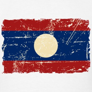 Laos Flag - Vintage Look T-Shirts - Men's T-Shirt