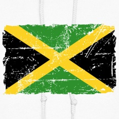 Jamaica Flag - Vintage Look Hoodies