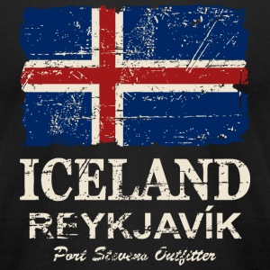 Iceland Flag - Vintage Look T-Shirts - Men's T-Shirt by American Apparel