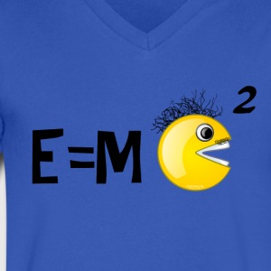 Einstein's smarter little brother, SMILEY! T-Shirts - Men's V-Neck T-Shirt by Canvas