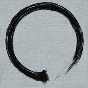 Zen Enso Black T-Shirts - Unisex Tri-Blend T-Shirt by American Apparel