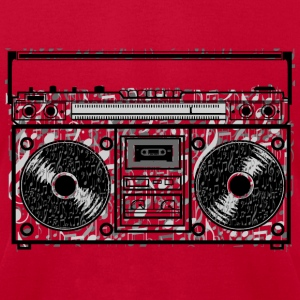 Boom Box Notes T-Shirts - Men's T-Shirt by American Apparel