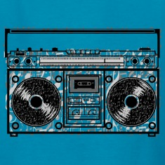 Boom Box Notes Kids' Shirts