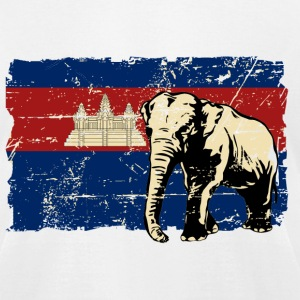 Cambodia Flag - Vintage Look T-Shirts - Men's T-Shirt by American Apparel
