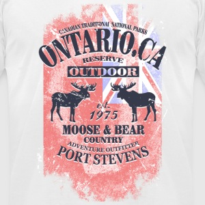Ontario Moose T-Shirts - Men's T-Shirt by American Apparel