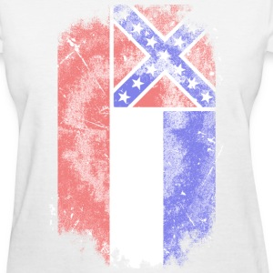 Mississippi vintage flag Women's T-Shirts - Women's T-Shirt