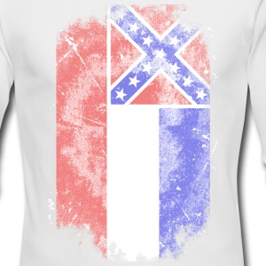 Mississippi vintage flag Long Sleeve Shirts - Men's Long Sleeve T-Shirt by Next Level