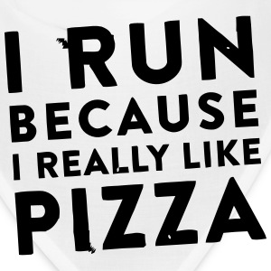 I RUN BECAUSE I REALLY LIKE PIZZA Caps - Bandana