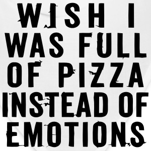 WISH I WAS FULL OF PIZZA INSTEAD OF EMOTIONS Caps - Bandana