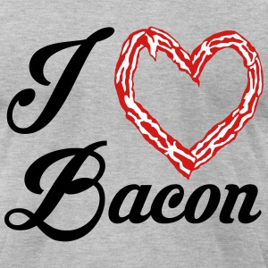 bacon love T-Shirts - Men's T-Shirt by American Apparel