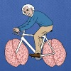 Albert Einstein Riding Bike With Brain Wheels Bags & backpacks - Tote Bag