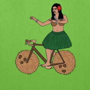Hula Dancer Riding Bike With Coconut Wheels Bags & backpacks - Tote Bag