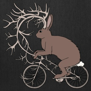 Jackalope Riding Bike With It's Antler Bike Bags & backpacks - Tote Bag