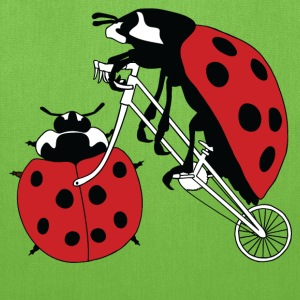 Ladybug Riding Bike With Ladybug Wheel Bags & backpacks - Tote Bag