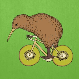 Kiwi Riding Bike With Kiwi Wheels Bags & backpacks - Tote Bag