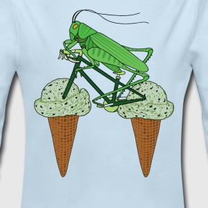 Grasshopper Riding Bike With Grasshopper ice cream Baby Bodysuits - Long Sleeve Baby Bodysuit