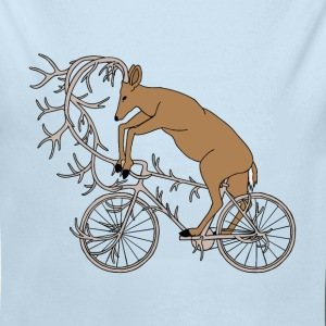 Deer Riding His Antler Bike  Baby Bodysuits - Baby Long Sleeve One Piece