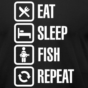 Eat -  sleep -fish - repeat T-Shirts - Men's T-Shirt by American Apparel