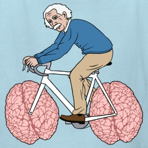 Albert Einstein Riding Bike With Brain Wheels Kids' Shirts - Kids' T-Shirt