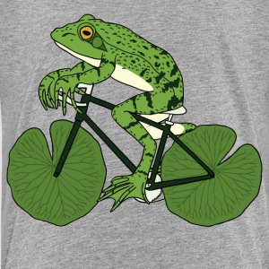 Frog Riding Bike With Lily Pad Wheels Kids' Shirts - Kids' Premium T-Shirt