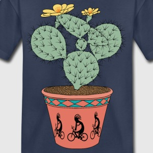 Pear Cactus Bike In Pot With Kokopelli On Bike Kids' Shirts - Kids' Premium T-Shirt