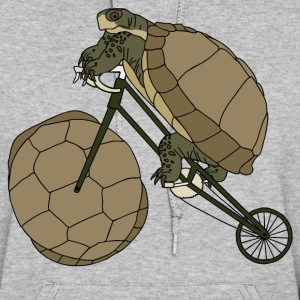 Tortoise Riding Bike With Tortoise Shell Wheel Hoodies - Women's Hoodie