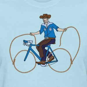 Cowboy Riding Bike With Lasso Wheels Women's T-Shirts - Women's T-Shirt