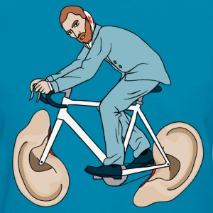 Van Gogh Riding Bike With Severed Left Ear wheels Women's T-Shirts - Women's T-Shirt