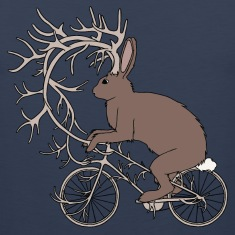 Jackalope Riding Bike With It's Antler Bike Tank Tops