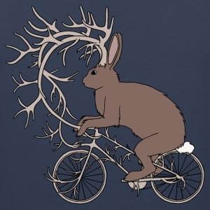 Jackalope Riding Bike With It's Antler Bike Tank Tops - Men's Premium Tank
