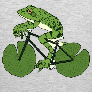Frog Riding Bike With Lily Pad Wheels Tank Tops - Men's Premium Tank