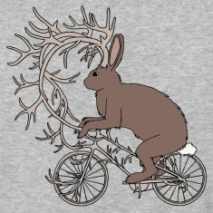 Jackalope Riding Bike With It's Antler Bike T-Shirts