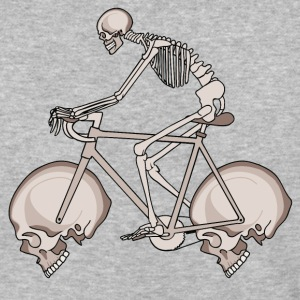 Skeleton Riding Bike With Skull Wheels T-Shirts - Baseball T-Shirt
