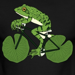 Frog Riding Bike With Lily Pad Wheels T-Shirts - Men's Ringer T-Shirt