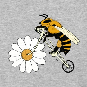 Bee Riding Bike With Flower Wheel T-Shirts - Baseball T-Shirt