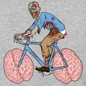 Zombie Riding Bike With Brain Wheels T-Shirts - Baseball T-Shirt