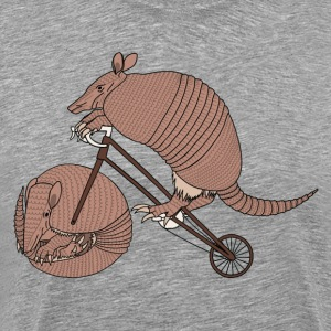 Armadillo Riding Bike With Armadillo Wheel  T-Shirts - Men's Premium T-Shirt