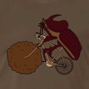 Dung Beetle Riding Bike With Dung Wheel T-Shirts - Men's Premium T-Shirt
