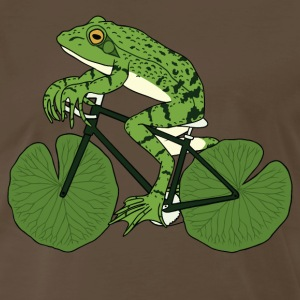 Frog Riding Bike With Lily Pad Wheels T-Shirts - Men's Premium T-Shirt