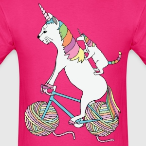 Cat Unicorn and Unicorn Cat Who Is Riding A Bike T-Shirts - Men's T-Shirt