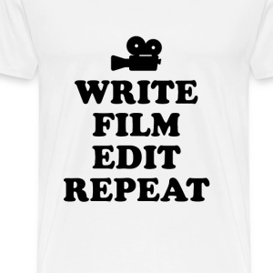 The daily life of a director - white - Men's Premium T-Shirt