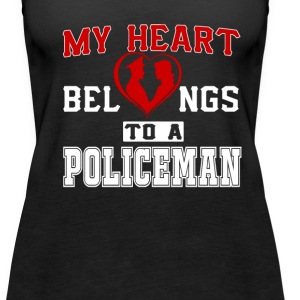 My heart belongs to a Policeman - Women's Premium Tank Top