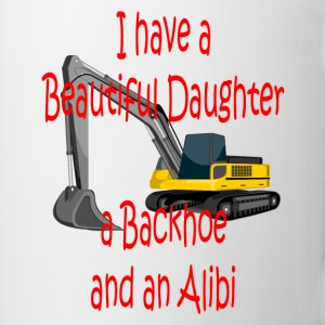 Beautiful Daughter, Backhoe and Alibi Mugs & Drinkware - Coffee/Tea Mug