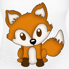 Cute Little Fox Women's T-Shirts
