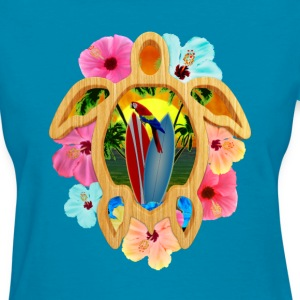 Hawaii Surfboards And Sunset - Women's T-Shirt
